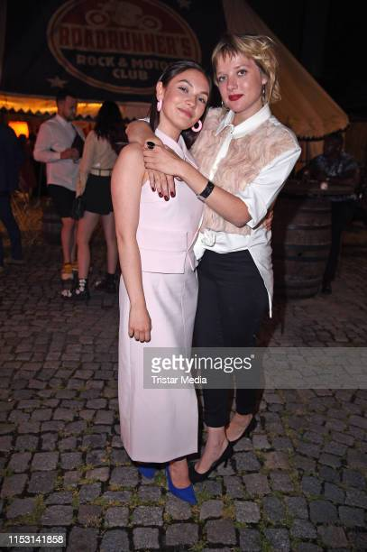 Emma Drogunova and Jella Haase attend the After Show Party of KxxK Kilian Kerner Fashion Show during the Berlin Fashion Week Spring/Summer 2020 on...