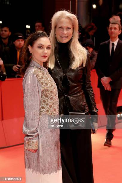 Emma Drogunova and Martha De Laurentiis pose at the Vice premiere during the 69th Berlinale International Film Festival Berlin at Berlinale Palace on...