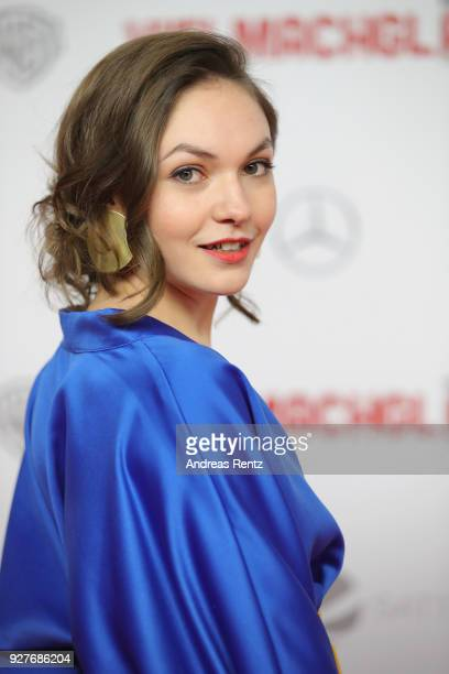 Emma Drogunova attends the premiere of 'Vielmachglas' at Cinedom on March 5, 2018 in Cologne, Germany.
