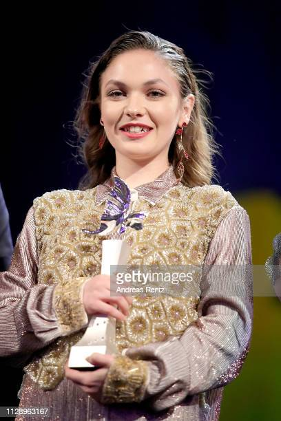 Emma Drogunova is seen on stage at the European Shooting Stars 2019 ceremony and Vice premiere during the 69th Berlinale International Film Festival...