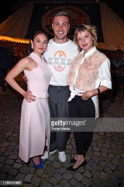 Emma Drogunova Jannik Schuemann and Jella Haase attend the After Show Party of KxxK Kilian Kerner Fashion Show during the Berlin Fashion Week...