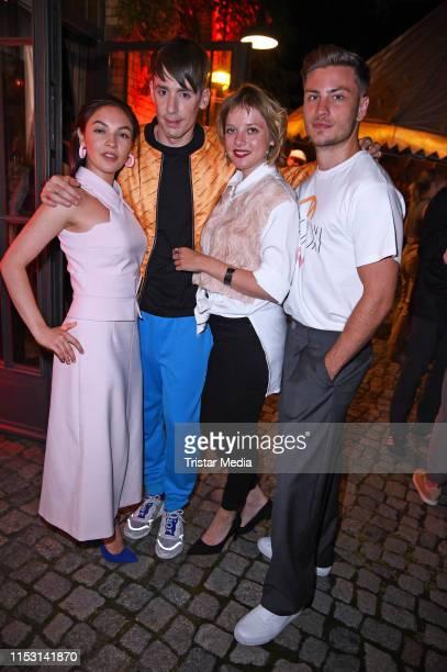 Emma Drogunova Kilian Kerner Jella Haase and Jannik Schuemann attend the After Show Party of KxxK Kilian Kerner Fashion Show during the Berlin...
