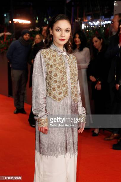 Emma Drogunova pose at the Vice premiere during the 69th Berlinale International Film Festival Berlin at Berlinale Palace on February 11 2019 in...