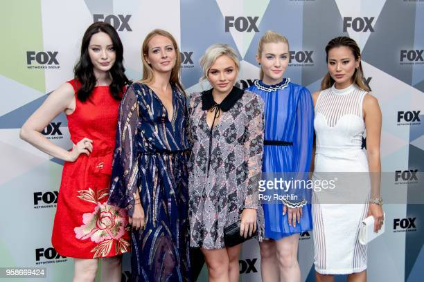 Emma Dumont Amy Acker Natalie Alyn Lind Skyler Samuels and Jamie Chung attend the 2018 Fox Network Upfront at Wollman Rink Central Park on May 14...