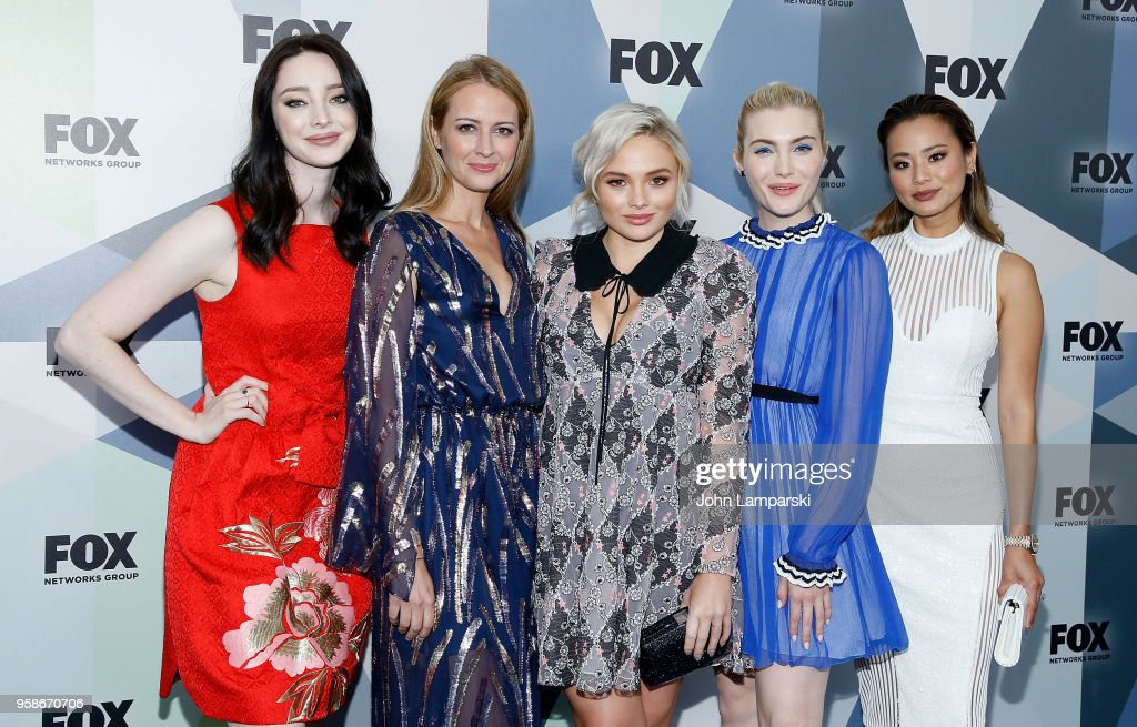 Emma Dumont, Amy Acker, Natalie Alyn Lind, Skyler Samuels and Jamie Chung attend 2018 Fox Network Upfront at Wollman Rink, Central Park on May 14, 2018 in New York City.