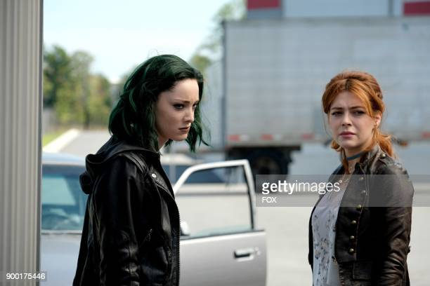 Emma Dumont and guest star Elena Satine in the 'eXtreme measures' episode of THE GIFTED airing Monday Nov 13 on FOX