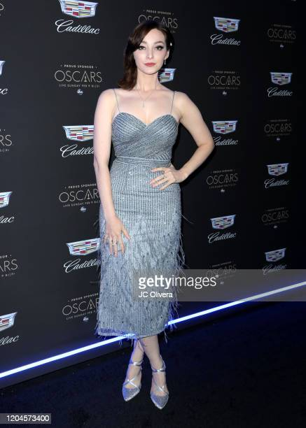 Emma Dumont attends Cadillac Celebrates the 92nd Annual Academy Awards at Chateau Marmont on February 06 2020 in Los Angeles California