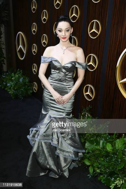 Emma Dumont attends the MercedesBenz USA Awards Viewing Party at Four Seasons Los Angeles at Beverly Hills on February 24 2019 in Los Angeles...
