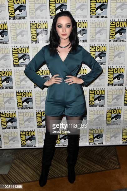 Emma Dumont attends the 'The Gifted' Press Line during ComicCon International 2018 at Hilton Bayfront on July 21 2018 in San Diego California