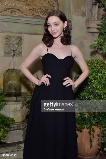 Emma Dumont attends Vanity Fair And Focus Features Celebrate The Film 'Phantom Thread' with Paul Thomas Anderson at the Chateau Marmont on January 10...