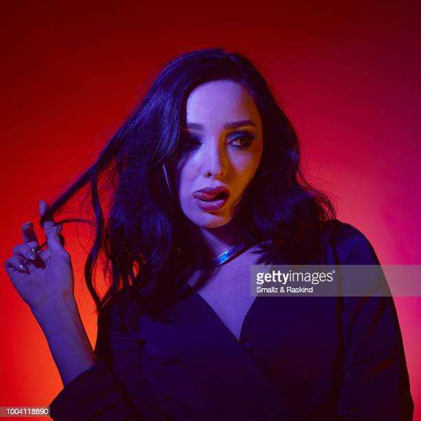 Emma Dumont from Fox's 'The Gifted' poses for a portrait at the Getty Images Portrait Studio powered by Pizza Hut at San Diego 2018 Comic Con at...