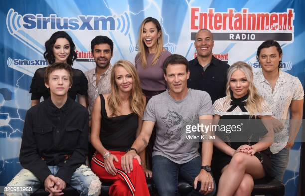 Emma Dumont, Sean Teale, Jamie Chung, Coby Bell, Blair Redford, Percy Hynes White, Amy Acker, Stephen Moyer and Natalie Alyn Lind attend SiriusXM's...