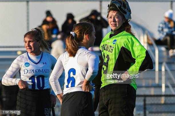 Emma Durantine and Christina Seery of Franklin Marshall looks on during the Division III Women's Field Hockey Championship held at Spooky Nook Sports...