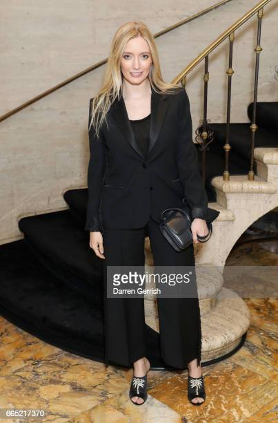 Emma ElwickBates attends the Matchesfashioncom 30th Anniversary Dinner on April 5 2017 in New York City