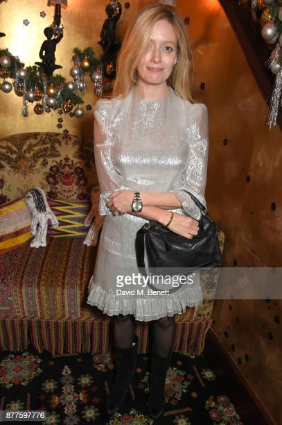 Emma ElwickBates attends the Nick Cave The Bad Seeds x The Vampires Wife x Matchesfashioncom party at Loulou's on November 22 2017 in London England