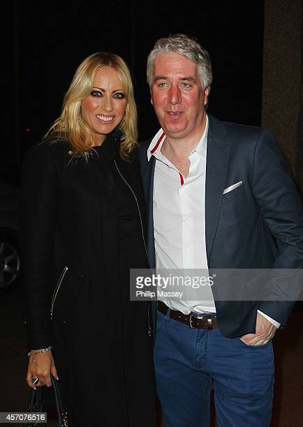Emma English and John Delaney appear on the Saturday Night Show on October 11 2014 in Dublin Ireland