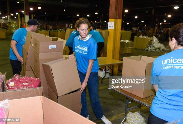 Emma Ferrer, Audrey Hepburn's Granddaughter, Joins UNICEF And UPS Volunteers In Packing Thousands Of Winter Survival Kits For Syrian Children on...