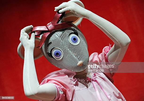 Emma Findlay prepares for her role as Angelina Ballerina prior to a performance with the English National Ballet in Sydney on December 10 2009 Over...