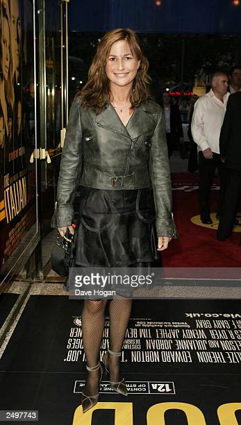 """Emma Forbes attends the UK charity premiere of """"The Italian Job"""" at the Empire Leicester Square September 15, 2003 in London, England."""
