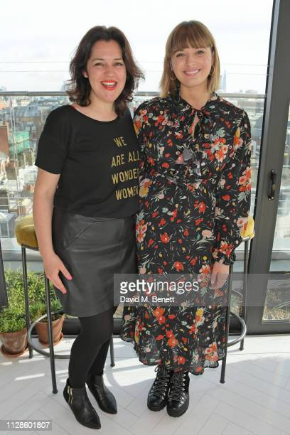 Emma France and Clemmie Hooper attend the mothers2mothers Wonder Women Tea at Bourne Hollingsworth's Garden Room on March 4 2019 in London England