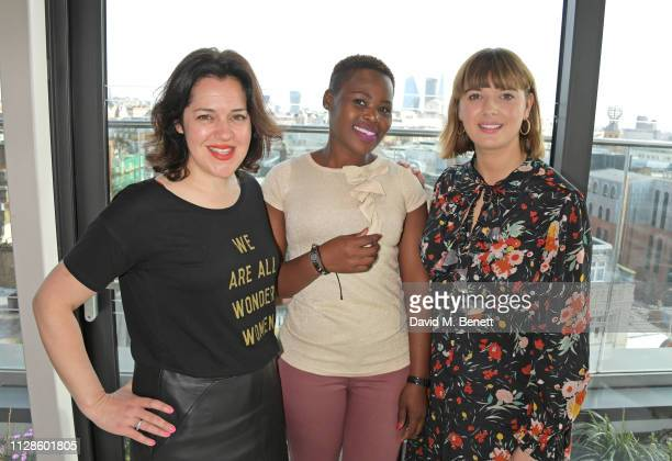 Emma France Relebohile Leoatha and Clemmie Hooper attend the mothers2mothers Wonder Women Tea at Bourne Hollingsworth's Garden Room on March 4 2019...