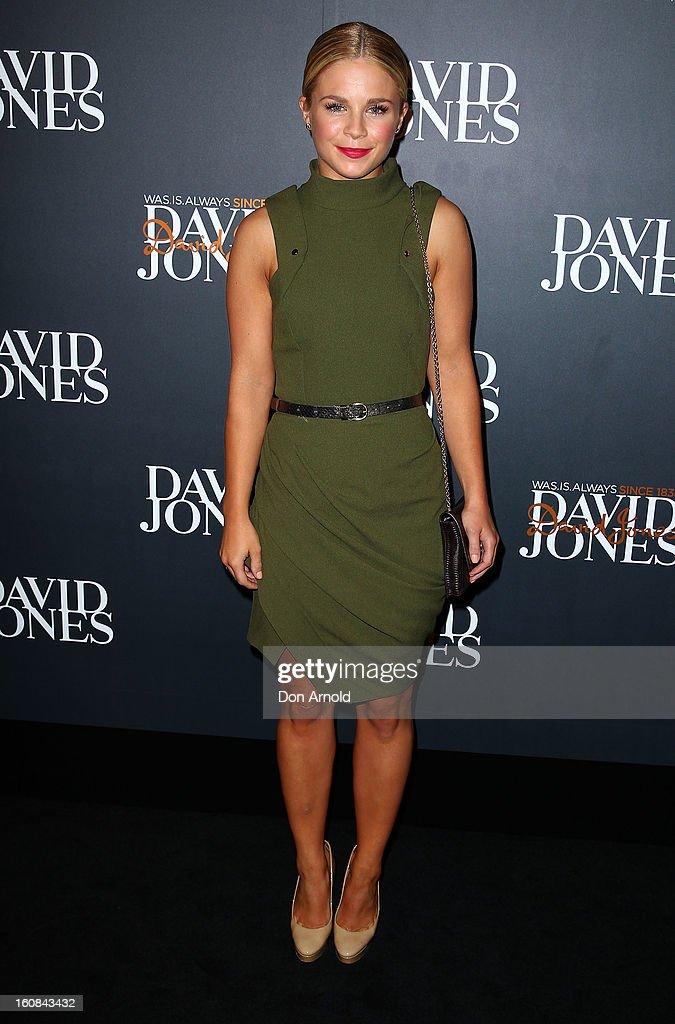 Emma Freedman arrives for the David Jones A/W 2013 Season Launch at David Jones Castlereagh Street on February 6, 2013 in Sydney, Australia.