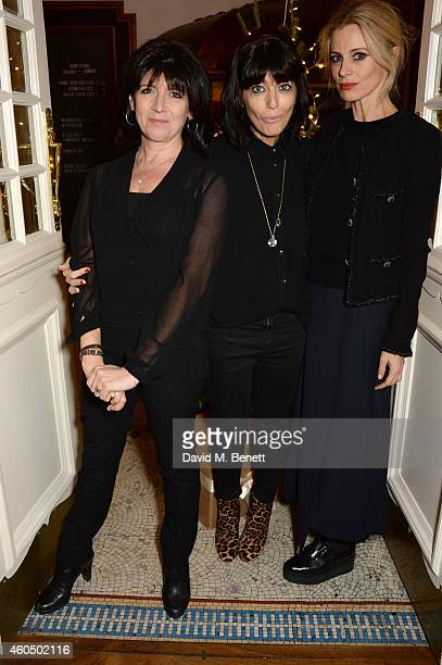 Emma Freud Claudia Winkleman and Laura Bailey pose at the screening of 'Trash' hosted by Claudia Winkleman Emma Freud and Laura Bailey at The...