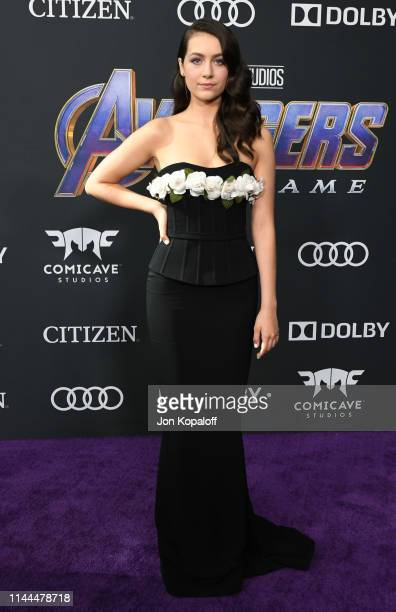 Emma Fuhrmann attends the World Premiere Of Walt Disney Studios Motion Pictures Avengers Endgame at Los Angeles Convention Center on April 22 2019 in...