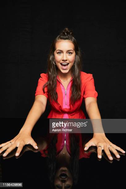 Emma Fuhrmann of Avengers Endgame poses for a portrait in the Pizza Hut Lounge at 2019 ComicCon International San Diego on July 18 2019 in San Diego...