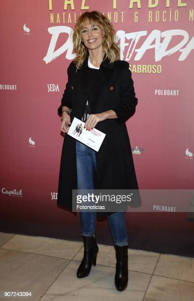 Emma Garcia attends the premiere of 'Desatadas' at the Capitol theatre on January 19 2018 in Madrid Spain