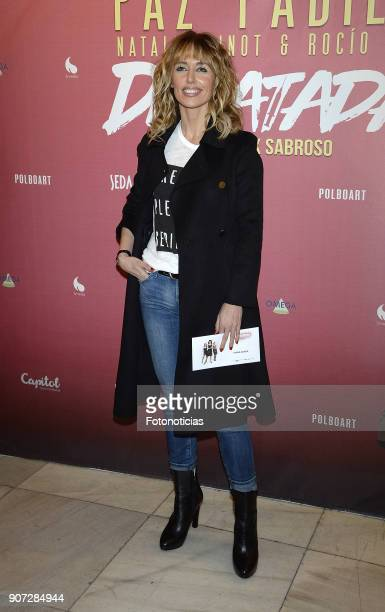Emma Garcia attends the premiere of 'Desatadas' at the Capitol theatre on January 19 2018 in Madrid