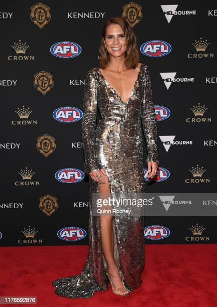 Emma Geary arrives ahead of the 2019 Brownlow Medal at Crown Palladium on September 23 2019 in Melbourne Australia