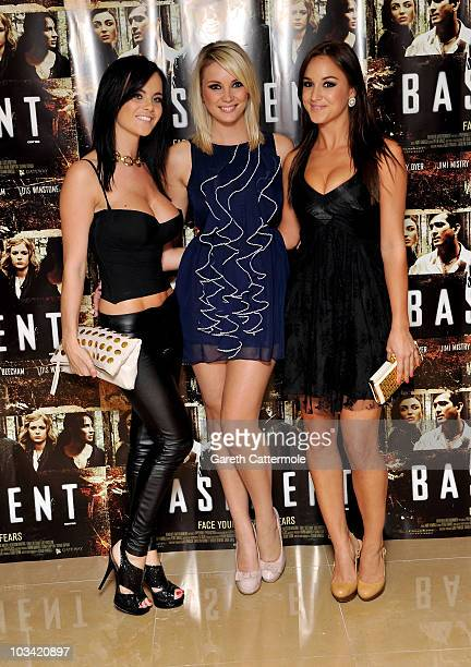 Emma Glover and Rosie Jones arrive at the UK Premiere of Basement at The Mayfair Hotel on August 17 2010 in London England