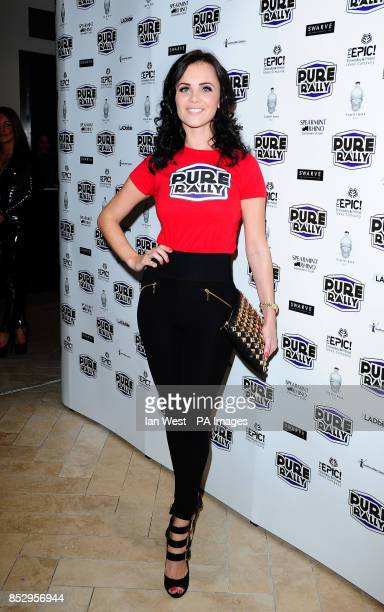Emma Glover at the launch of Pure Rally at the Millennium Mayfair Hotel London