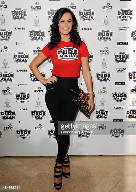 Emma Glover attends the launch of the new 2014 Super Car Rally at Millennium Mayfair Hotel on January 23 2014 in London England