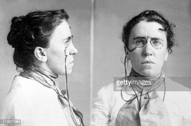 Emma Goldman american Lithuanianborn anarchocommunist known for her anarchist writings and speeches feminist mugshot c 1901
