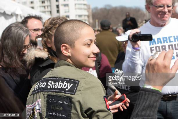Emma Gonzalez attends March For Our Lives on March 24 2018 in Washington DC