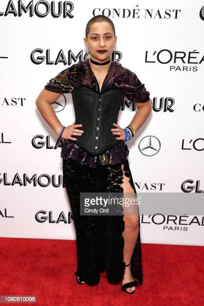 Emma Gonzalez attends the 2018 Glamour Women Of The Year Awards Women Rise on November 12 2018 in New York City