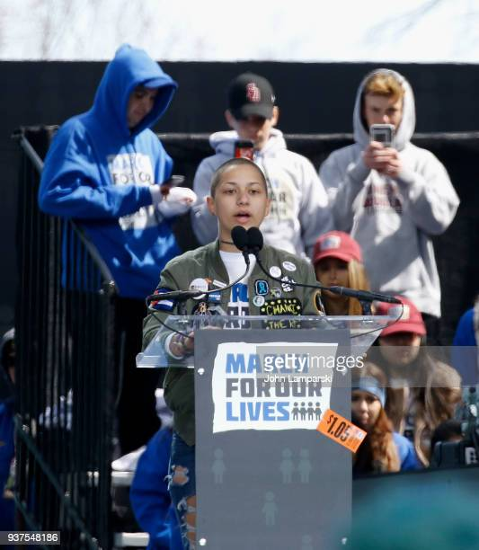 Emma Gonzalez attends the March For Our Lives on March 24 2018 in Washington DC