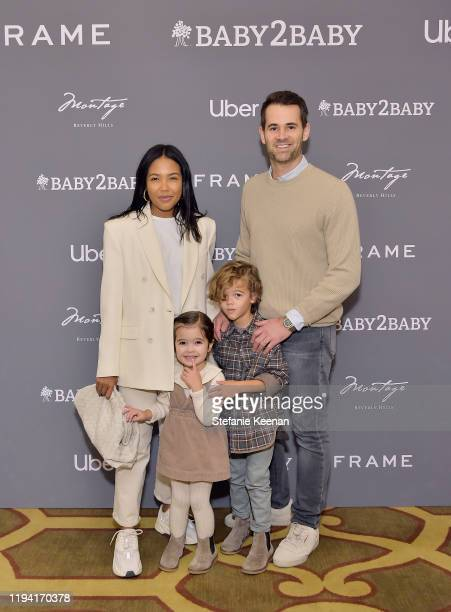Emma Grede, Jens Grede and family attend The Baby2Baby Holiday Party Presented By FRAME And Uber at Montage Beverly Hills on December 15, 2019 in...