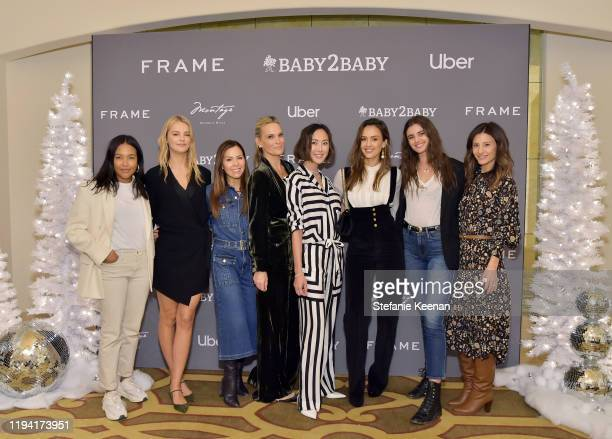 Emma Grede, Kelly Sawyer Patricof, Monique Lhuillier, Molly Sims, Chriselle Lim, Jessica Alba, Taylor Hill and Norah Weinstein attend The Baby2Baby...