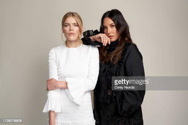Emma Greenwell and Olivia Munn of Starz's 'The Rook' pose for a portrait during the 2019 Winter TCA at The Langham Huntington Pasadena on February 12...