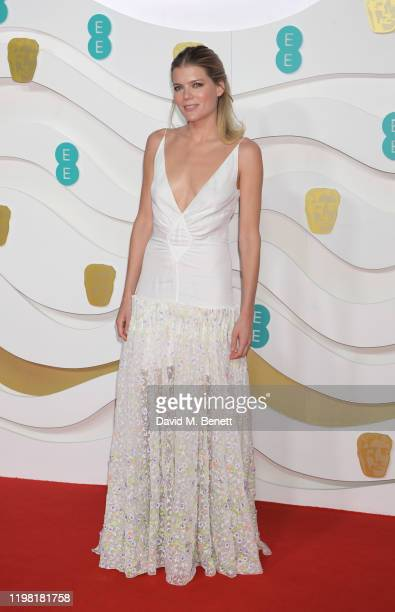 Emma Greenwell arrives at the EE British Academy Film Awards 2020 at Royal Albert Hall on February 2 2020 in London England