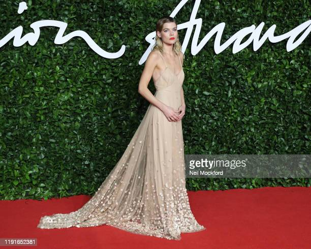 Emma Greenwell arrives at The Fashion Awards 2019 held at Royal Albert Hall on December 02 2019 in London England