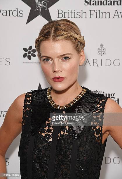 Emma Greenwell arrives at The London Evening Standard British Film Awards at Claridge's Hotel on December 8 2016 in London England
