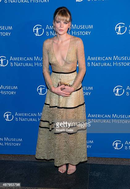 Emma Greenwell attends the 2015 American Museum of Natural History Museum Gala at American Museum of Natural History on November 19 2015 in New York...