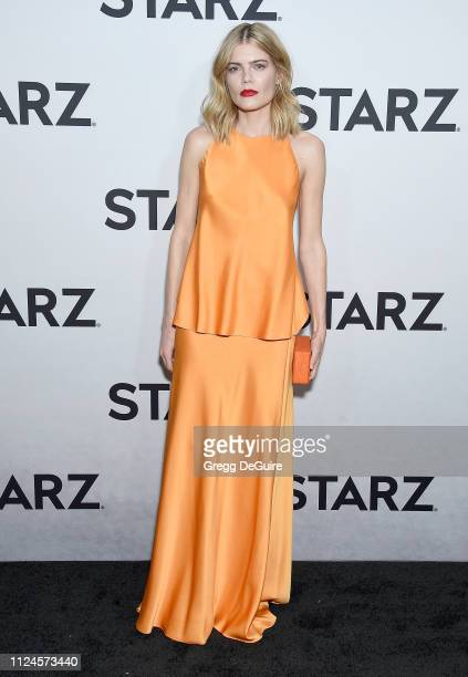 Emma Greenwell attends the 2019 Winter TCA Tour STARZ Red Carpet Event at 71Above on February 12 2019 in Los Angeles California