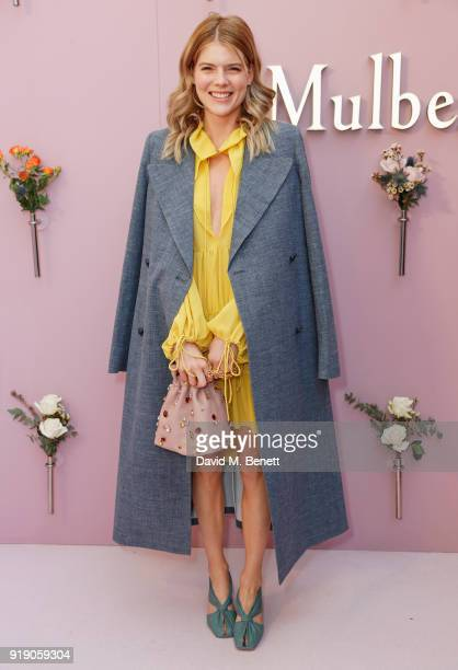 Emma Greenwell attends the Mulberry 'Beyond Heritage' SS18 Presentation during London Fashion Week February 2018 at Spencer House on February 16 2018...
