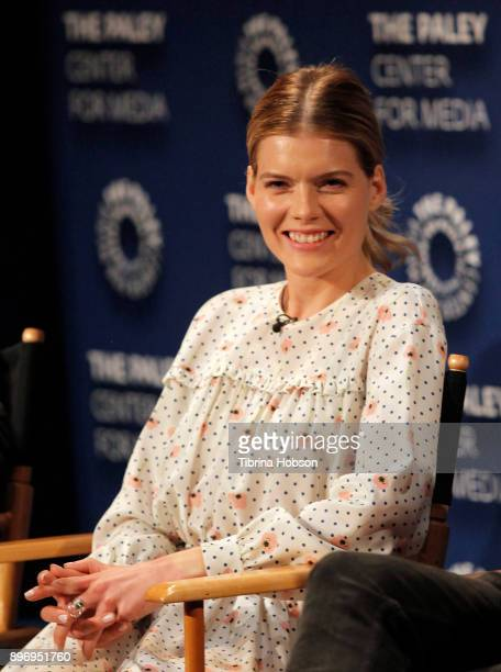 Emma Greenwell attends the Paley Center for Media's presentation of Hulu's 'The Path' Season 3 premiere QA at The Paley Center for Media on December...