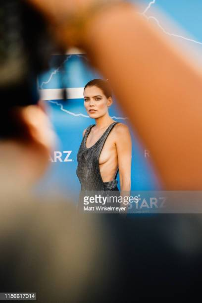 Emma Greenwell attends the LA premiere of Starz's The Rook at The Getty Museum on June 17 2019 in Los Angeles California